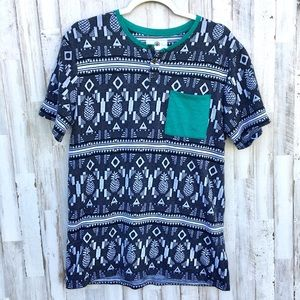 On the byas pineapple pattern shirt size Large